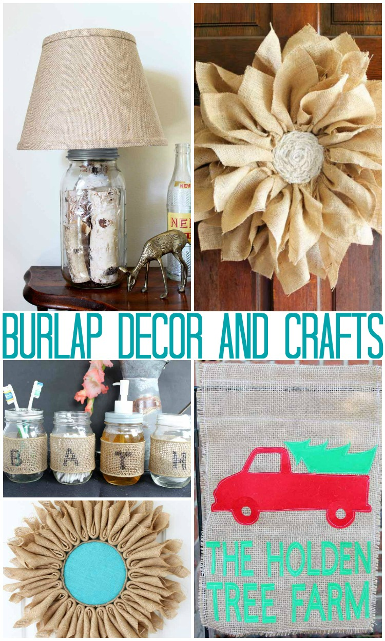 Burlap decor and crafts the country chic cottage for Burlap designs