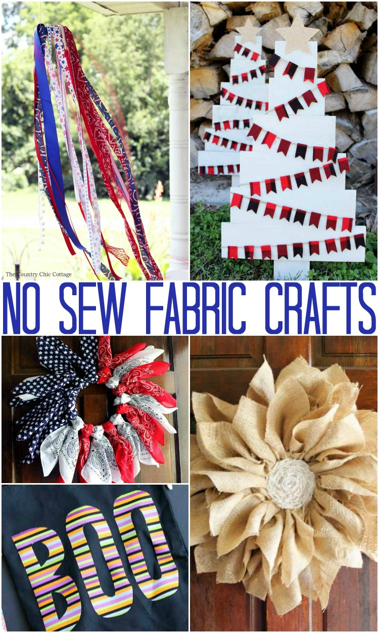 no sew craft ideas no sew projects the country chic cottage 5035