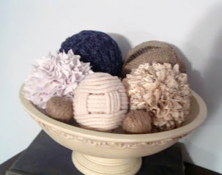 Make a decor ball from an old sweater!  A fun recycled craft idea!