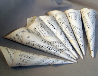rolled sheet music