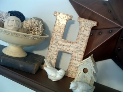 Diy Chipboard Monogram Sheet Music Letter The Country