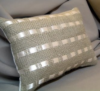 Burlap and Ribbon Pillows — PBish(?)