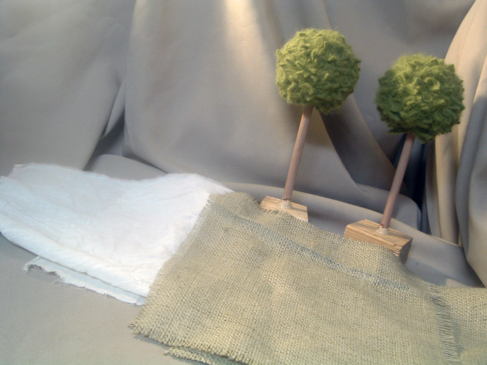 Make topiaries from a sweater with this quick and easy craft tutorial!