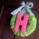 Make this crepe paper wreath for your door this spring!