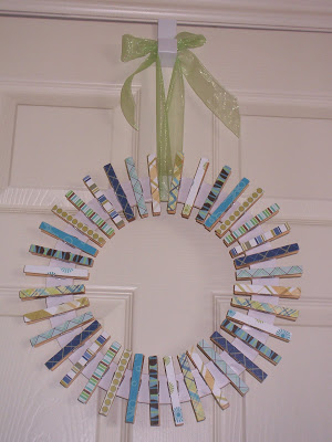 Learn how to make your own clothespin wreath for a laundry room or your front door!