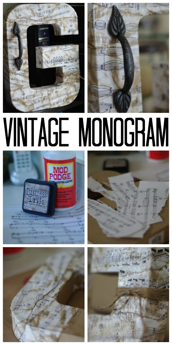 Make this vintage monogram with just a few supplies!