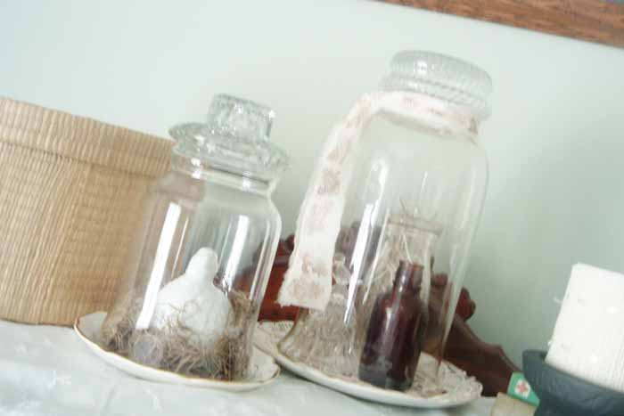 Make a DIY cloche for your home in just minutes!  This inexpensive craft idea is perfect for any home decor!