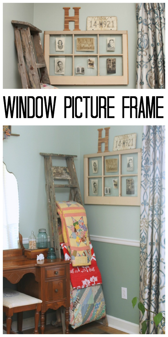 Make a window picture frame for your home in just a few simple steps!