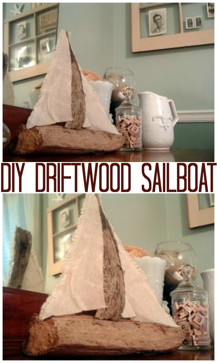 Learn how to make a driftwood sailboat with step by step instructions.