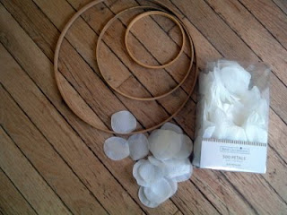 supplies to make a chandelier from rose petals