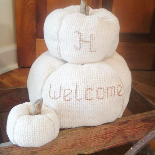 embroidered pumpkins