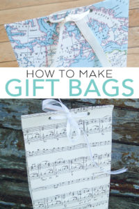 Learn how to make a gift bag with this easy tutorial! A DIY paper bag is an easy way to gift a gift for any occasion! #gift #handmade #handmadegift #paperephemera
