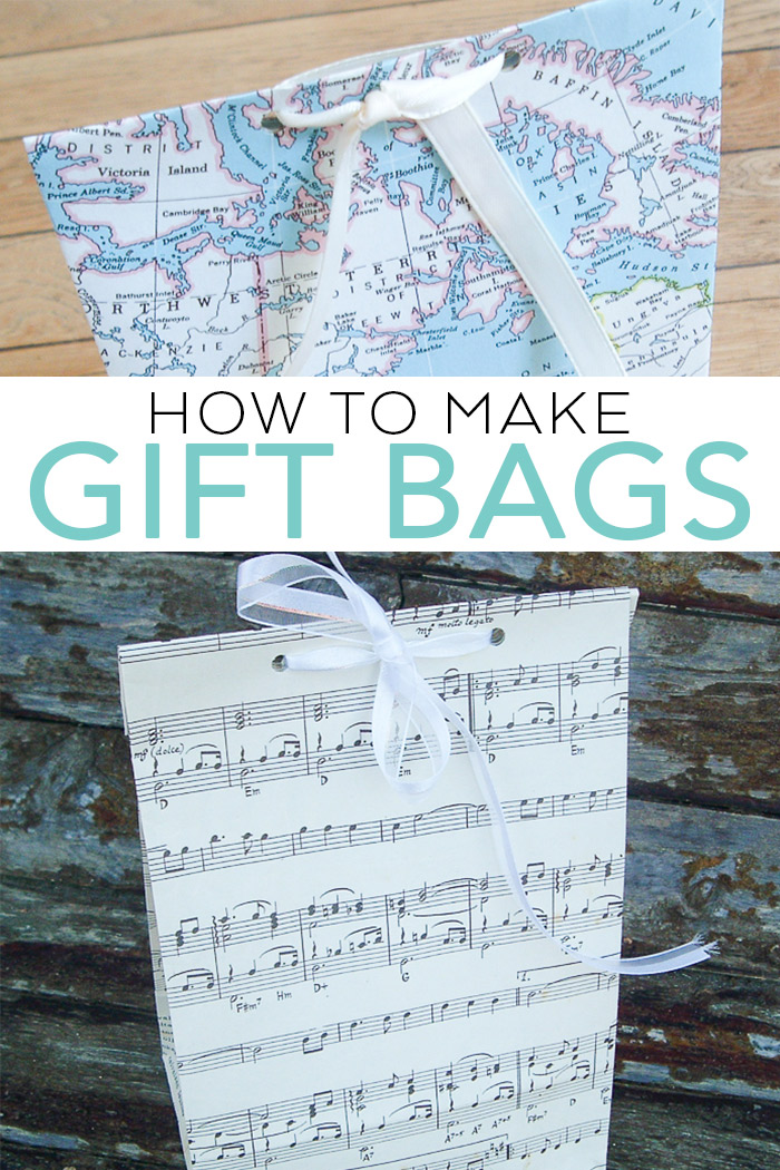 Learn how to make gift bags with this easy tutorial! A DIY paper bag is an easy way to gift a gift for any occasion! #gift #handmade #handmadegift #paperephemera