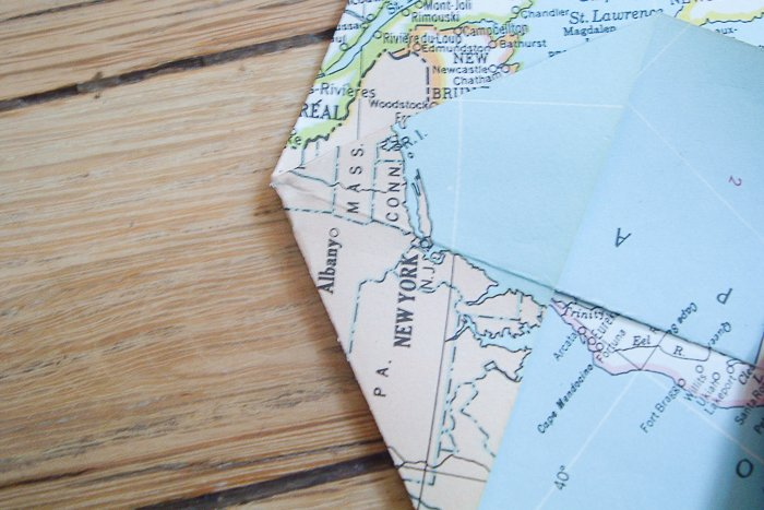 folding corners of maps