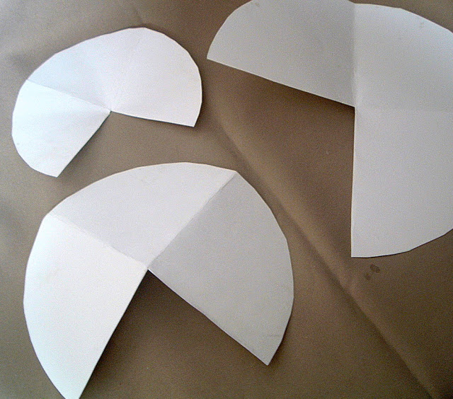poster board pattern for making christmas trees