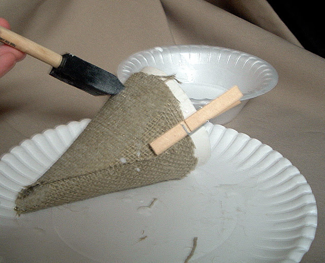 mixture of glue and water as a fabric stiffener