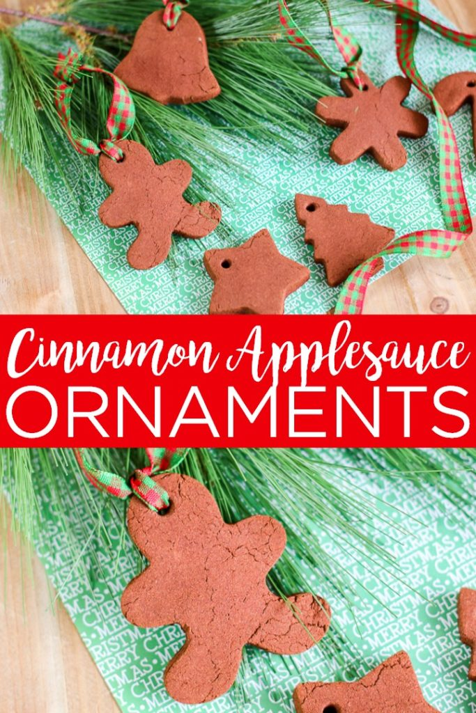 Make your own cinnamon applesauce ornaments that you can make with your kids this Christmas! A fragrant addition to your Christmas tree! #christmas #christmasornaments #cinnamon #kidscraft #kids #ornaments #holidays #christmastree #christmascraft #crafts #diy #recipe #craftidea