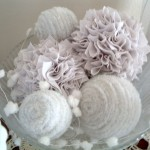 Put white pipe cleaners on foam balls for some gorgeous snow ball decor! Love this for winter!
