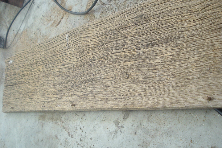 cutting barn wood