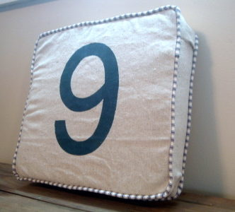Number Pillow — RH Knock Off
