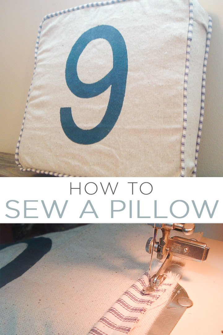 Learn how to sew a pillow with this super simple tutorial! You will be adding these decorative pillows to every room after you see just how easy they are to make! #sew #sewing #tutorial #howto