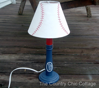 a good knock off seemed to fit the bill so i made this baseball lamp similar to one i found in the pottery barn kids catalog - Baseball Lamp