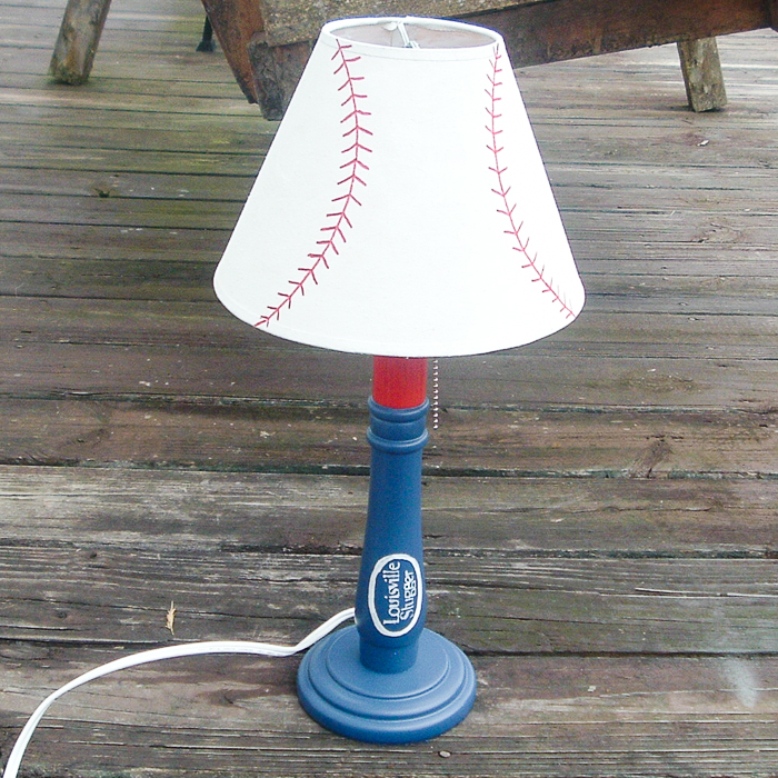 Making a baseball bat lamp from a thrift store find with a Cricut machine