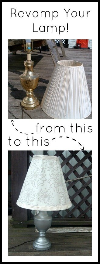 Transform any lamp with spray paint and fabric!