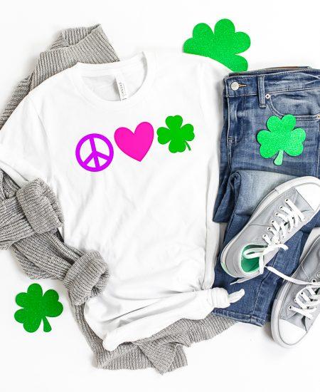 peace love and shamrocks shirt