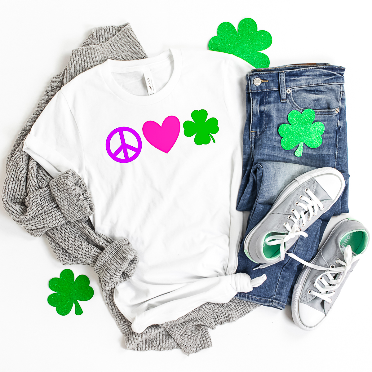 peace love and shamrocks shirt