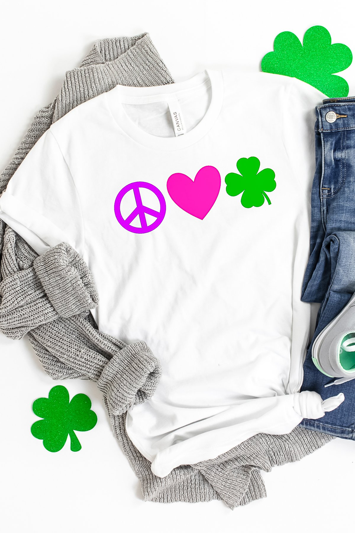 st patricks day diy shirt