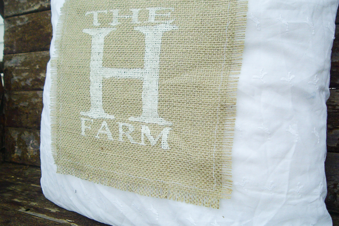 Here's step by step instructions on how to make a rustic burlap and lace pillow cover