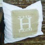 DIY Pillow Covers with Burlap and Lace