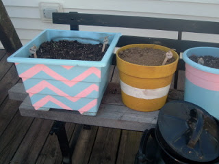 DIY Back Porch Container Herb Garden
