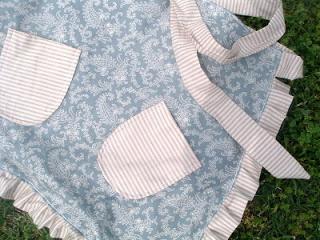 handmade apron with ruffle edges