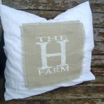 See how to combine burlap with elegant fabric to make a one of a kind pillow!