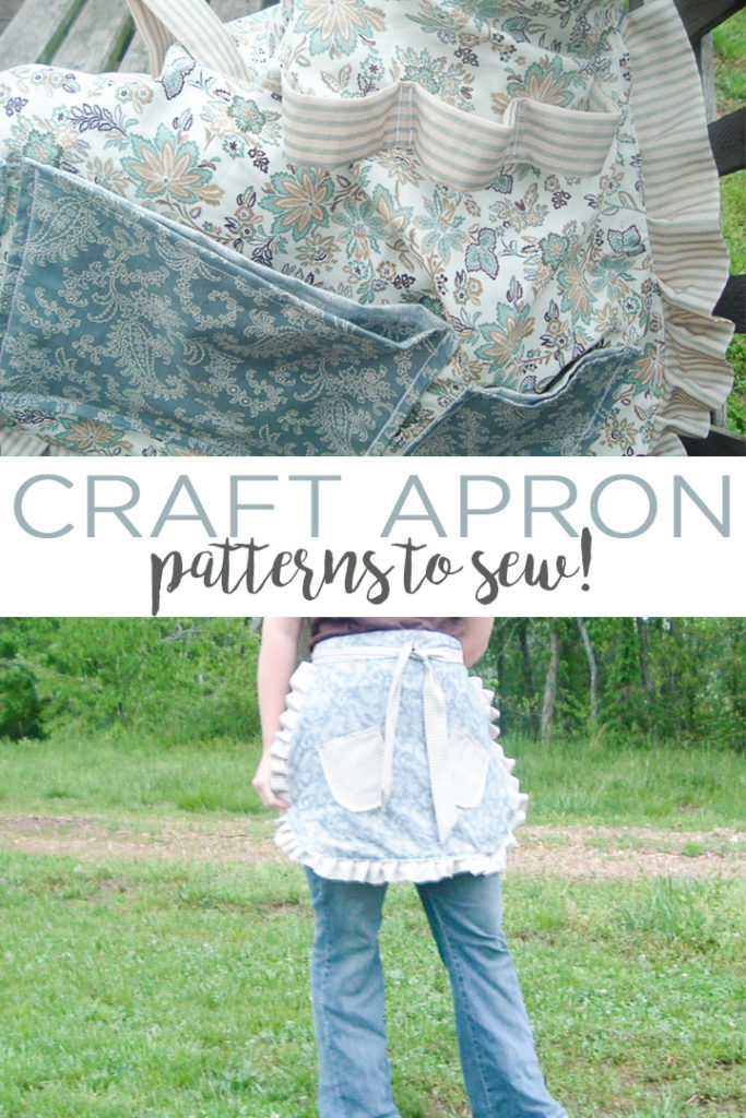We have eight great craft apron patterns for you to sew! Use these great aprons for crafting when creating! #apron #sewing #sew #sewingpattern