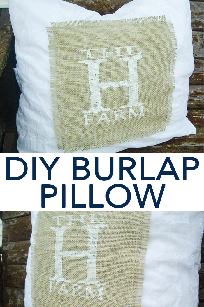 Diy Pillow Covers With Burlap And Lace The Country Chic Cottage