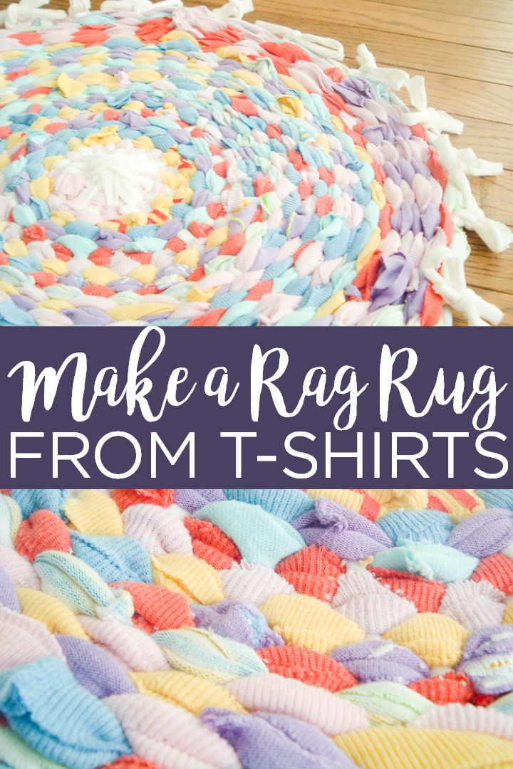How to Make a Rag Rug using a Hula Hoop