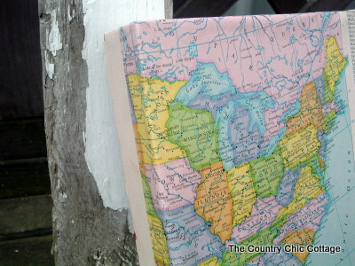 Diy wrapped map canvas the country chic cottage gumiabroncs Gallery
