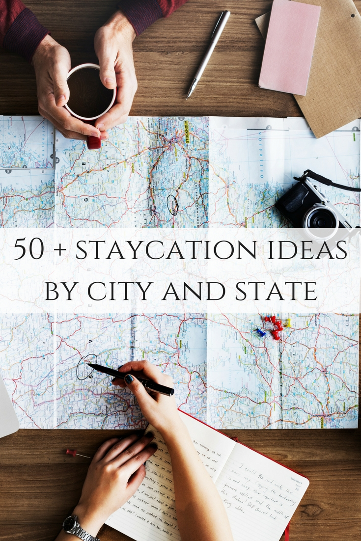 Over 50 cities and states along with staycation ideas for each one! A great guide in the United States for travel!