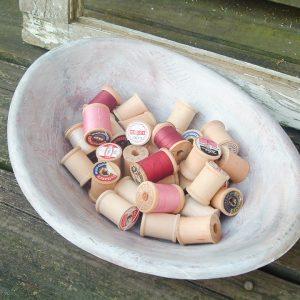 diy wooden dough bowl with paint