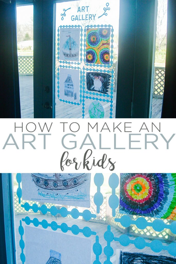 Learn how to make a window art gallery for kids with a Cricut machine! A fun way to display the kids art in your home! #cricut #cricutmade #cricutcreated #art #kids #kidsart #kidscraft