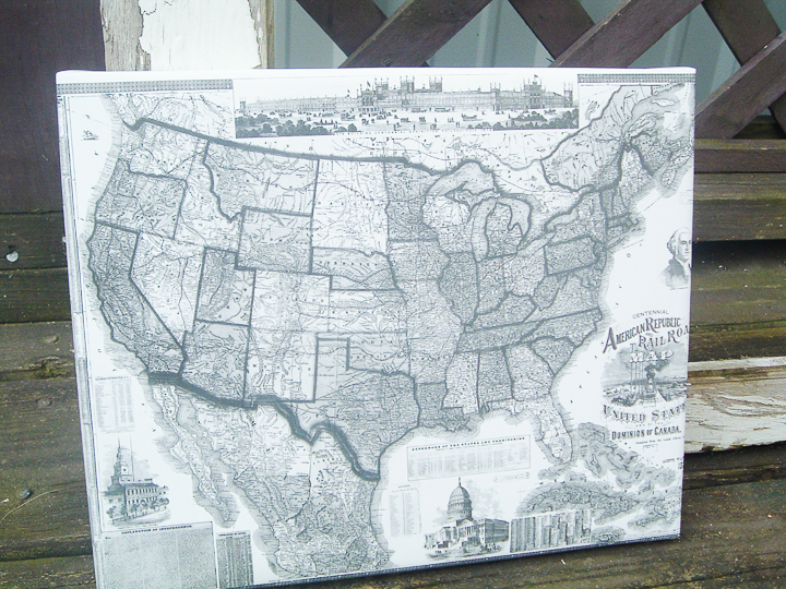 craft using vintage railroad maps