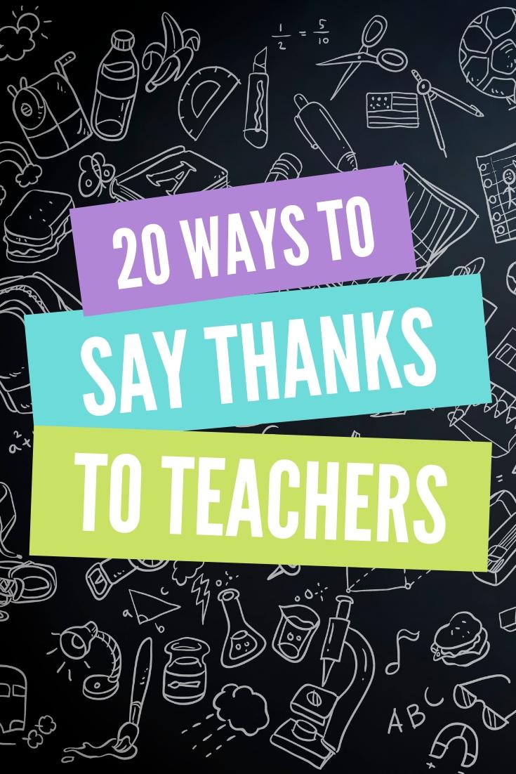 20 Teacher Appreciation Week Ideas that you can use to thank a teacher on your list! #teachers #teacherappreciationweek #giftideas