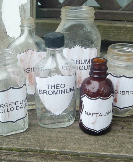 how to use vintage labels on jars