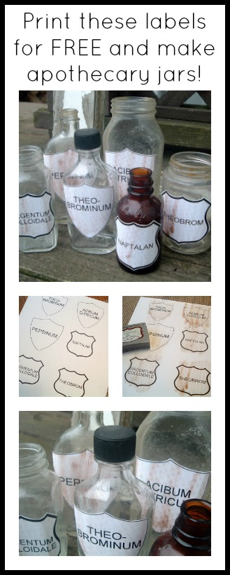 Free printable for labels to knock off your favorite Pottery Barn apothecary jars!