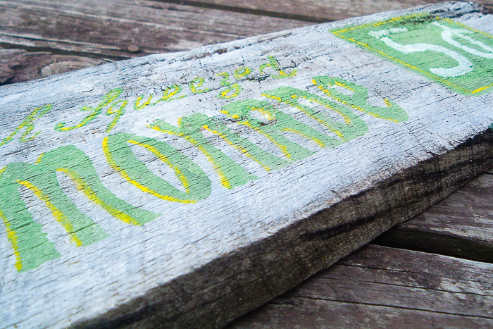 How to make your own stencils for wood signs with a Cricut machine.