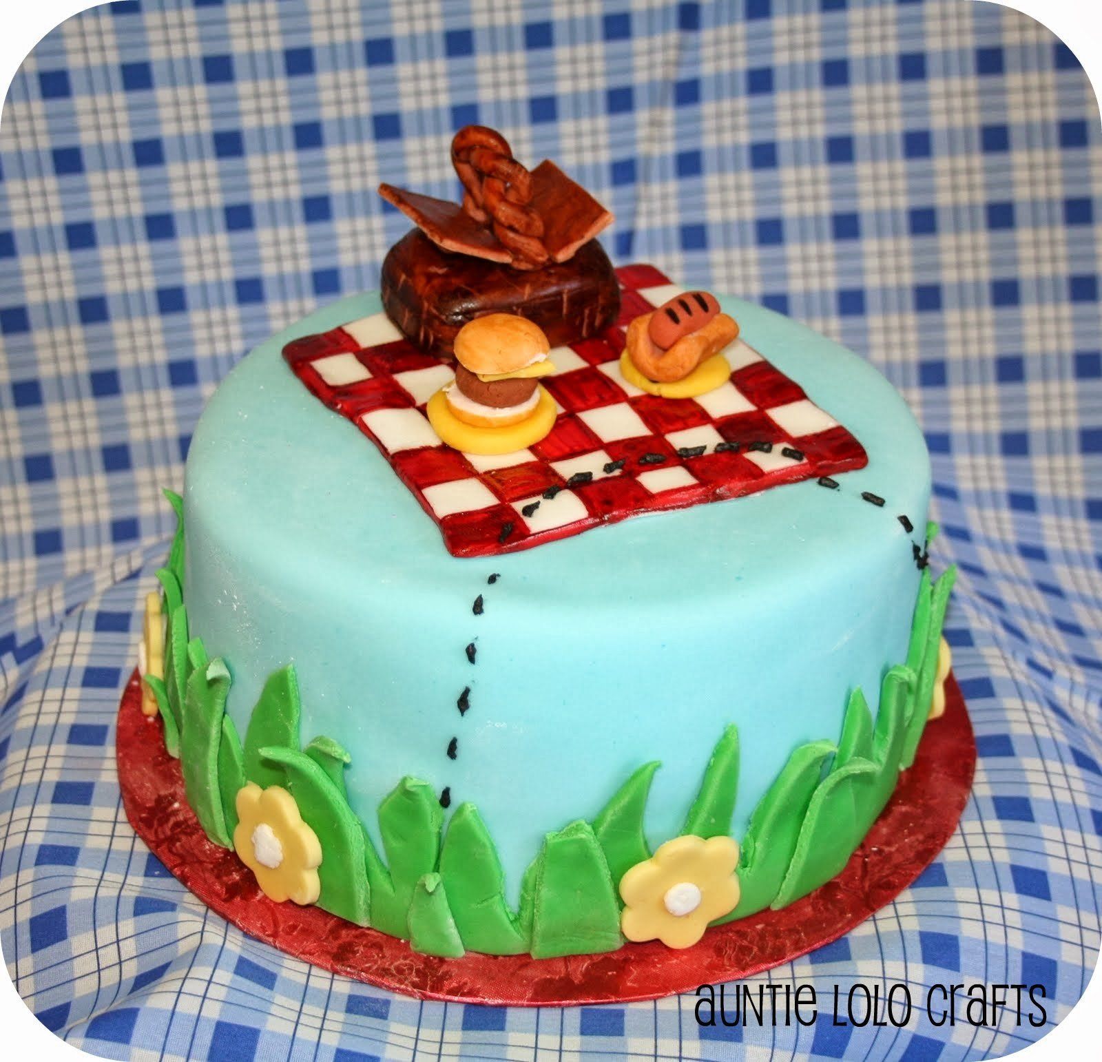 Picnic Cake How To Decorate With Fondant Beach Bash Day 17 The Country Chic Cottage