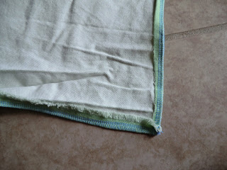 Fold over the edges of your fabric and sew, creating a sturdy hem